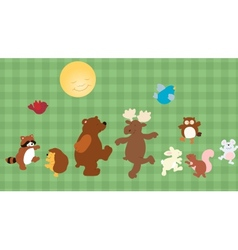 Forest critters vector image vector image