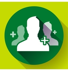 Teamwork association of green people icon Flat vector image vector image