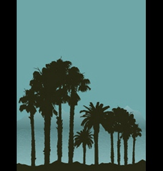 tropical landscape 2404 vector image vector image