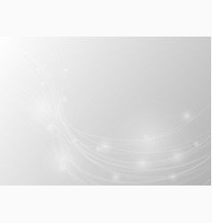 abstract white curve on gray background vector image
