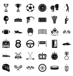 Achievement icons set simple style vector