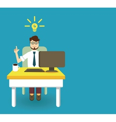 An innovation idea of employee vector image