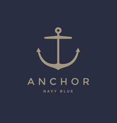 anchor emblem design vector image