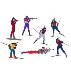 Biathlon set vector