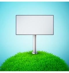 billboard on the grass vector image