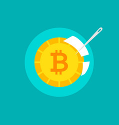 Bitcoin bubble concept vector
