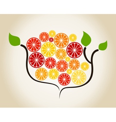Branch an orange vector