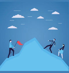 business people success vector image