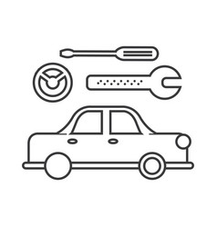 car service sign line icon sign vector image