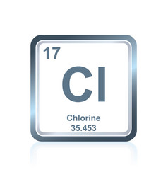 chemical element chlorine from the periodic table vector image