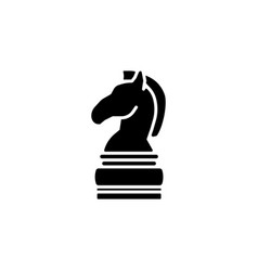 chess figure of a horse chess icon vector image