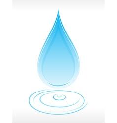 Clean water droplet vector
