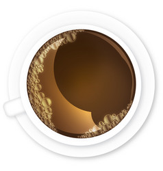 Coffee with teacup bubbles vector