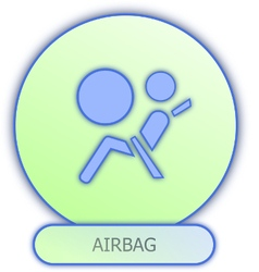 Commercial icons and symbols car parts - airbag vector