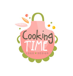 cooking time logo design kitchen emblem vector image