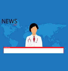 Coronavirus breaking news headline reporting on vector