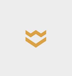 Crown arrow shield premium logo luxury vector