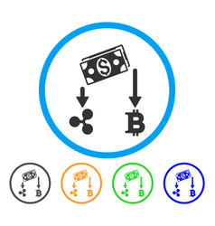 Cryptocurrency cashflow rounded icon vector