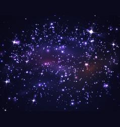 dark night sky with stars and galaxy vector image