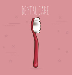 Dental care tooth brush vector
