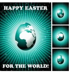 Easter backgrounds vector image