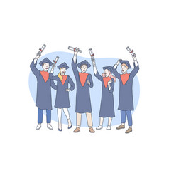 education graduation awarding concept vector image