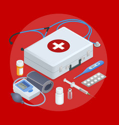 flat concept mobile health online medical vector image
