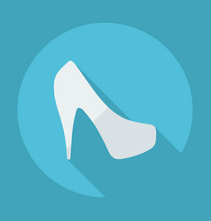 Flat modern design with shadow womens shoes vector