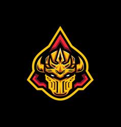 gold guardian helmet vector image
