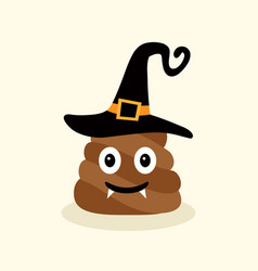 Halloween funny poop emotional shit icons vector
