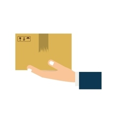 hand holding a box vector image
