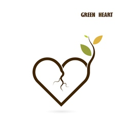 Heart sign and small tree vector image