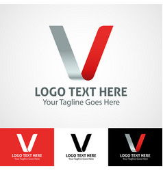 Hi-tech trendy initial icon logo v vector