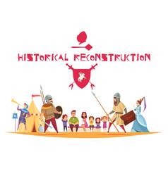 Historical reconstruction concept vector
