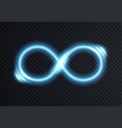 infinite shining symbol vector image