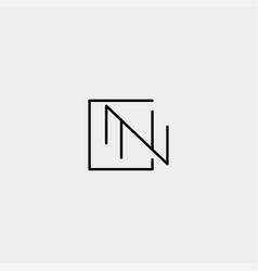 Letter n nn z zz monogram logo design minimal icon vector