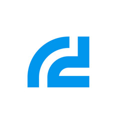 letter r d logo initial alphabet rd vector image