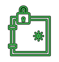 Locker icon in creative design with elements for vector