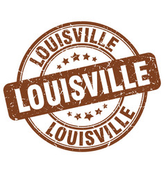 Louisville brown grunge round vintage rubber stamp vector