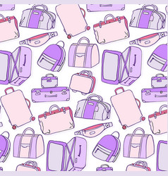 luggage pattern baggage accessories suitcase bum vector image