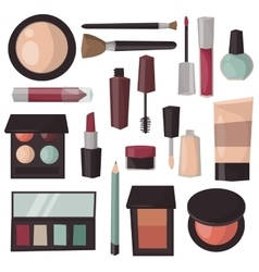 Makeup tools isolated vector image