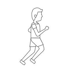 man avatar running or jogging icon image vector image