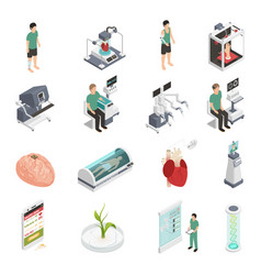 medicine future technology icons vector image