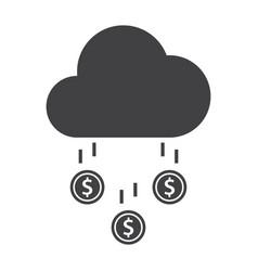money rain icon vector image