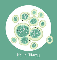 Mould allergy for medical vector