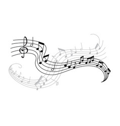 Musical note and treble clef icon for music design vector
