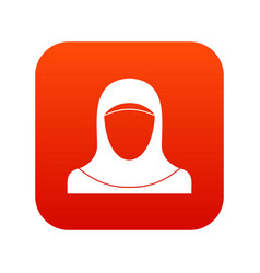 muslim women wearing hijab icon digital red vector image