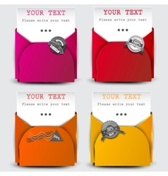 Paper sheets with envelopes vector