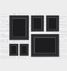 Photo frame on a background vector