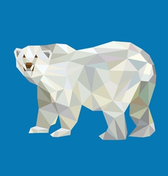 Polar bear triangle low polygon style vector